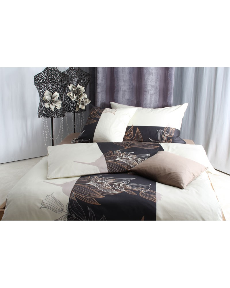baumwoll satin bettw sche set stella. Black Bedroom Furniture Sets. Home Design Ideas