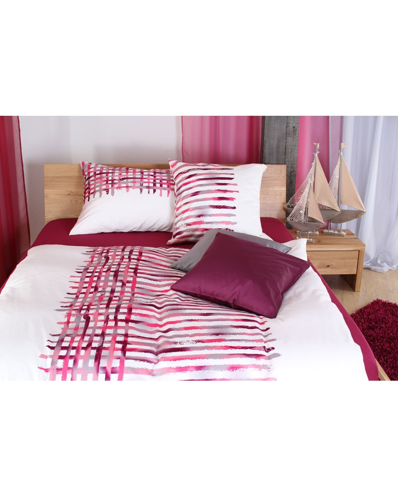 baumwoll satin bettw sche set xenia pink. Black Bedroom Furniture Sets. Home Design Ideas